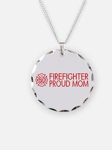 Firefighter: Proud Mom (Florian Cross) Necklace