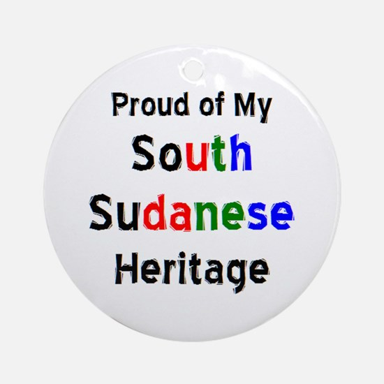 south sudanese heritage Round Ornament