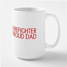 Firefighter: Proud Dad (Florian Cross) Large Mug