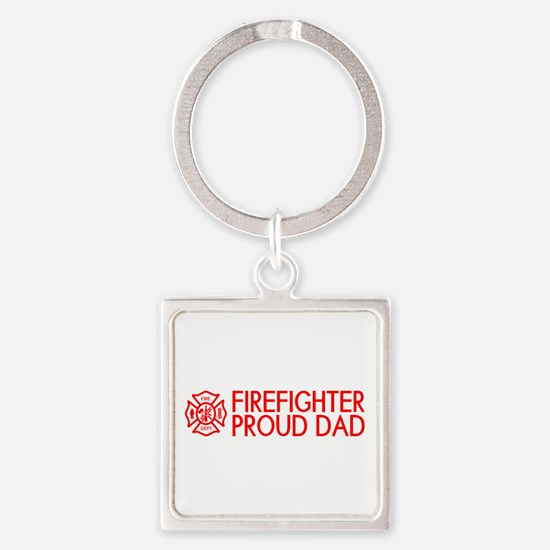 Firefighter: Proud Dad (Florian Cr Square Keychain