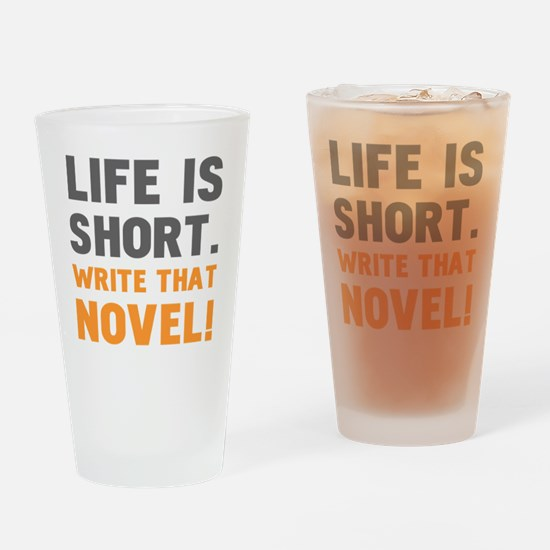 Funny Writer Drinking Glass