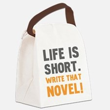 Funny Author Canvas Lunch Bag