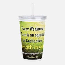 2 Corinthians 12:9 Acrylic Double-wall Tumbler