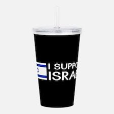 I Support Israel (Black) Acrylic Double-wall Tumbl