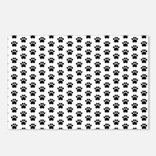 Paw Print Pattern Postcards (Package of 8)