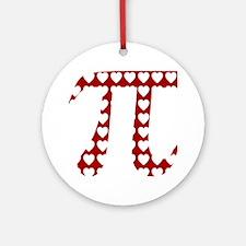 Valentine Pi Ornament (Round)