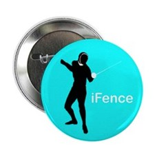 "iFence Blue - 2.25"" Button (10 pack)"
