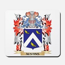 Austins Coat of Arms - Family Crest Mousepad