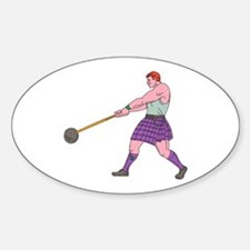 Weight Throw Highland Games Athlete Drawing Sticke