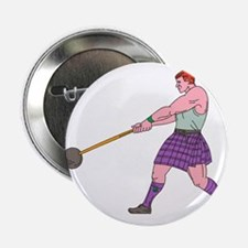 Weight Throw Highland Games Athlete Drawing 2.25""