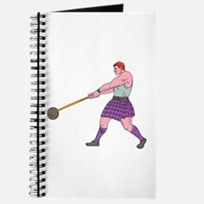 Weight Throw Highland Games Athlete Drawing Journa