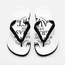 The Best Grandmas Are Born In August Flip Flops