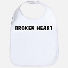 Broken heart Bib
