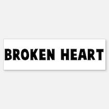 Broken heart Bumper Bumper Bumper Sticker