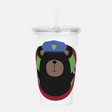 Police Officer Grizzly Acrylic Double-wall Tumbler