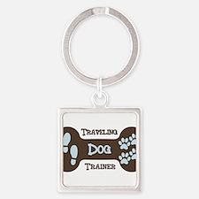 Traveling Dog Trainer Logo Keychains
