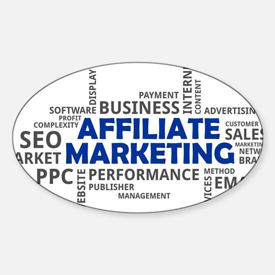 word cloud - affiliate marketing Decal
