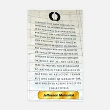 jefferson & religion Sticker (Rectangle)