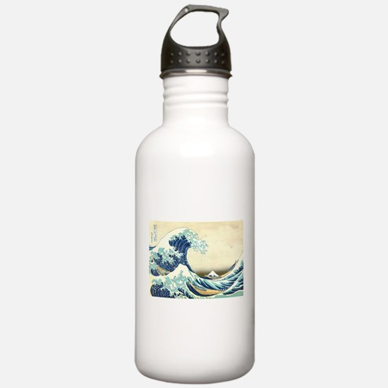 The Great Wave off Kan Water Bottle