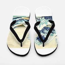 The Great Wave off Kanagawa Flip Flops