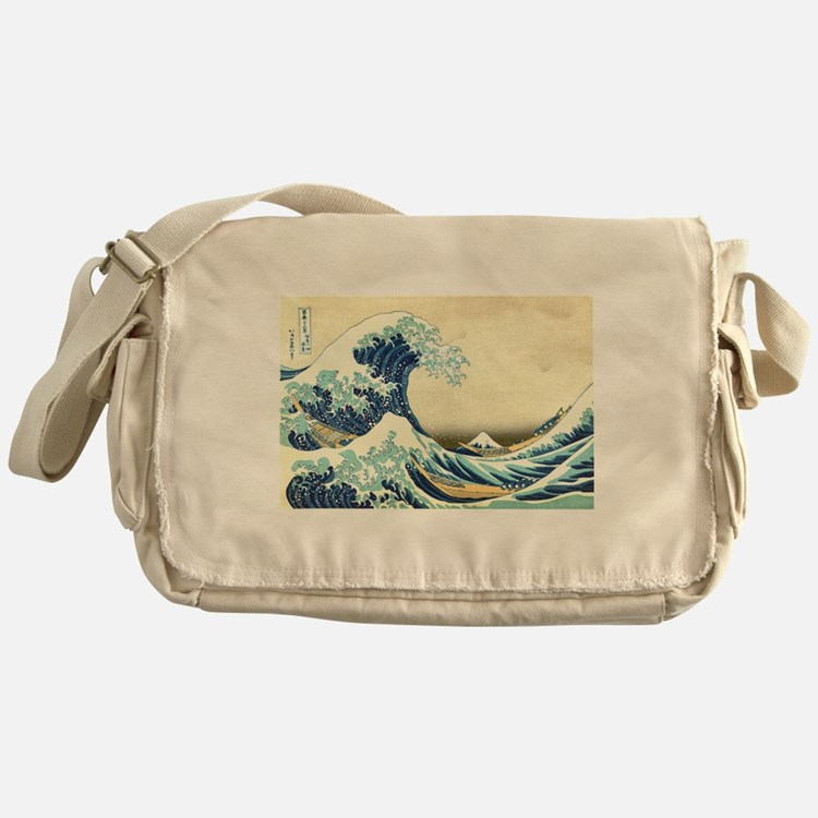 The Great Wave off Kanagawa Messenger Bag