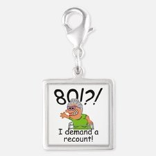 Recount 80th Birthday Funny Old Lady Charms