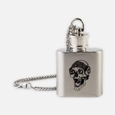 Unique Tribal skull Flask Necklace