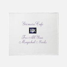 Grimoire Cafe Logo Throw Blanket