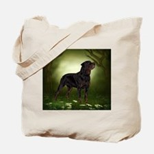 Rottweiler Dog The Guardian Tote Bag