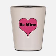 Be Mine Candy Heart Shot Glass