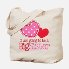 Valentine Big Sister to be Tote Bag