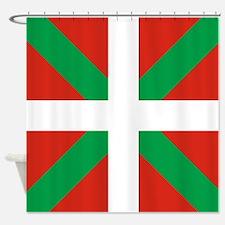 Basque Country: Euskaldun Flag Shower Curtain