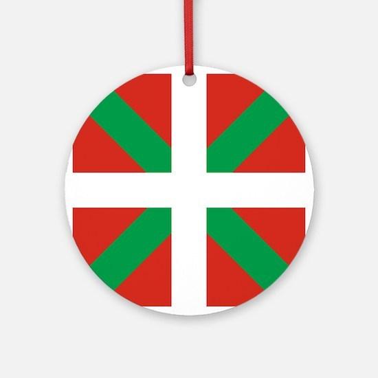 Basque Country: Euskaldun Flag Round Ornament