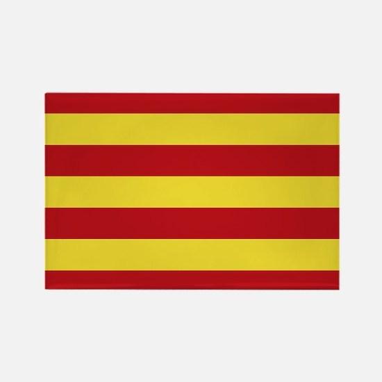 Catalunya: Catalan Flag Rectangle Magnet