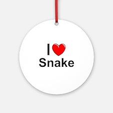 Snake Round Ornament
