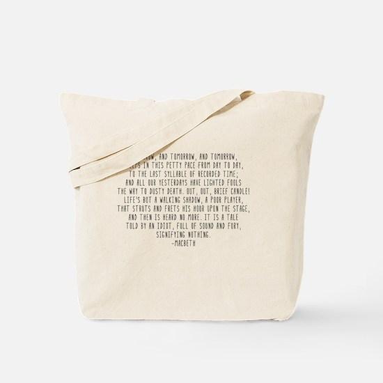 Macbeth Tote Bag