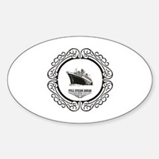 Funny Full boat Sticker (Oval)