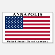 USNA Ensign Rectangle Decal