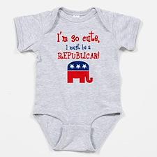 So Cute Republican Baby Body Suit