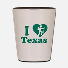 Love Hiking Texas Shot Glass