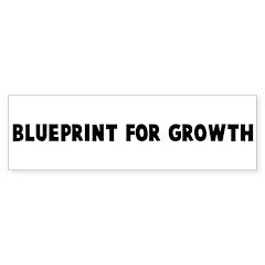 Blueprint for growth Bumper Bumper Sticker