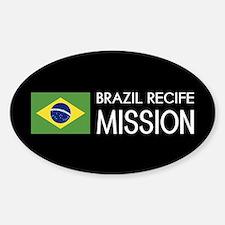 Brazil, Recife Mission (Flag) Sticker (Oval)