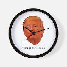 CAPTION TRUMP! Customizable President Wall Clock