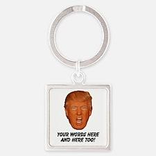 CAPTION TRUMP! Customizable Presid Square Keychain
