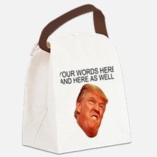 CAPTION TRUMP! Customizable Presi Canvas Lunch Bag