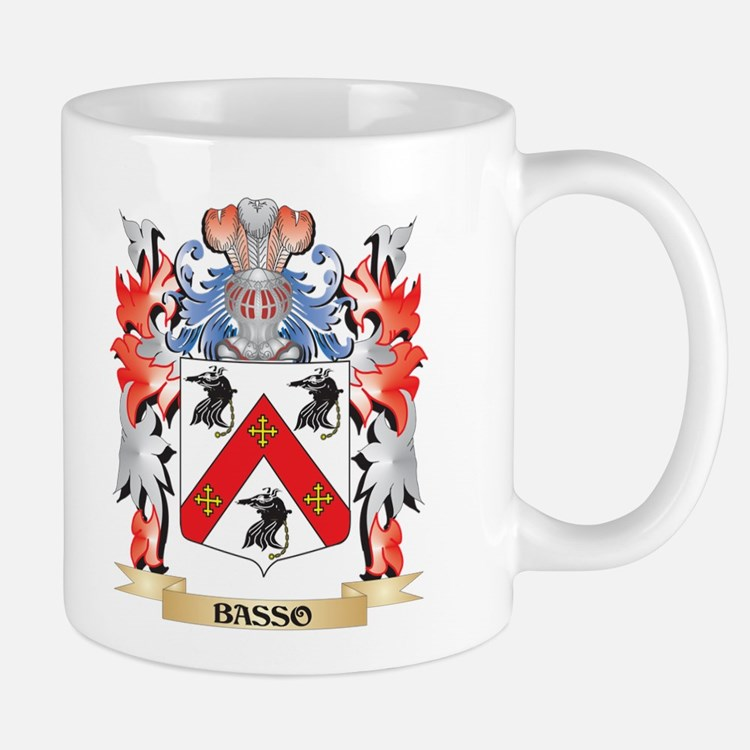 Basso Coat of Arms - Family Crest Mugs
