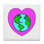 Love Our Planet Tile Coaster