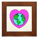 Love Our Planet Framed Tile