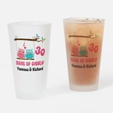 30th Anniversary 30 Years Owls Personalized Drinki