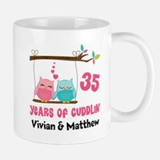 35th Anniversary 35 Years Owls Personalized Mugs